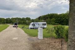 der erste Wohnwagen im Eschenweg